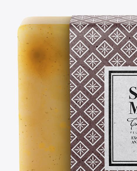 Each psd file measures 4500 x 3500 px at 300 dpi, is neatly layered, and equipped with smart objects for easy branding. Soap Bar Mockup in Packaging Mockups on Yellow Images ...