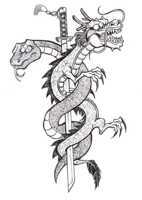 coloriage adulte tatouages tatouage dragon   color