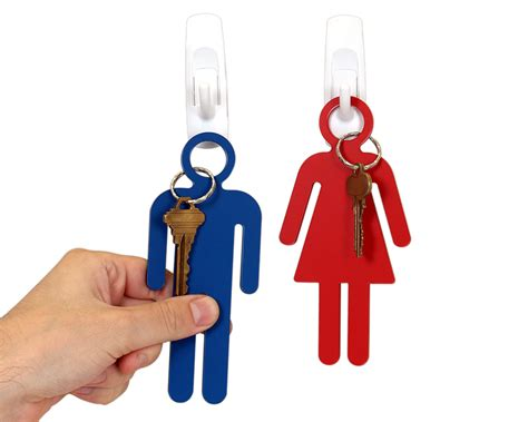 Engraved Bathroom Key Chains