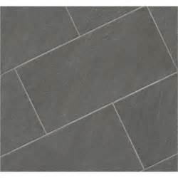 shop style selections galvano charcoal glazed porcelain floor tile common 12 in x 24 in