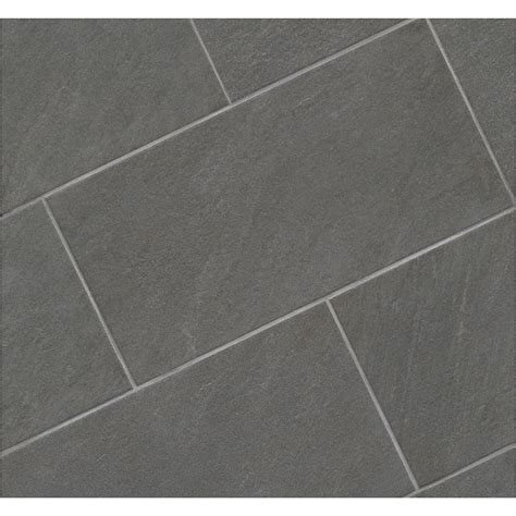 galvano charcoal tile 12x12 shop style selections galvano charcoal glazed porcelain
