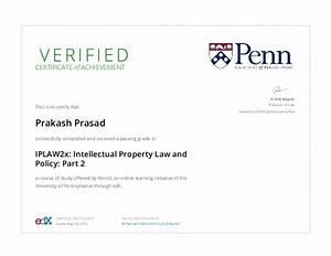 PennX IPLAW2x Certificate _ edX