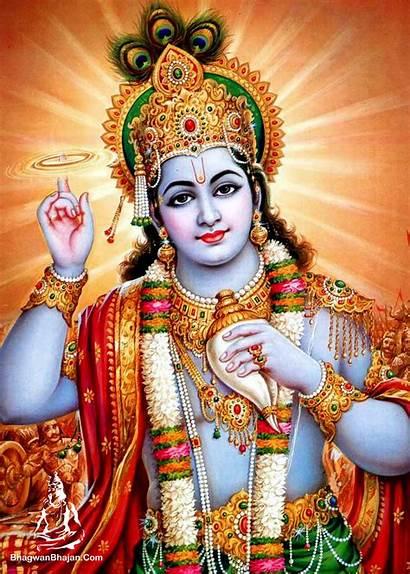 Vishnu Bhagwan Krishna Lord Wallpapers Shri Hindu