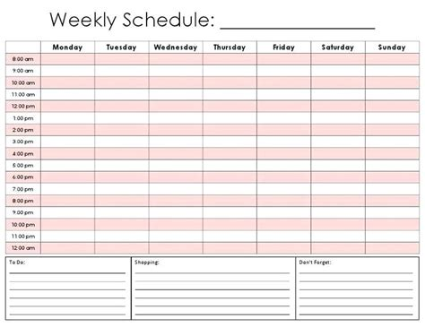 printable weekly appointment calendar printable  degree