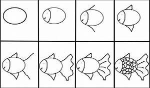 Comment Dessiner La Mer : comment dessiner 1 poisson ~ Dallasstarsshop.com Idées de Décoration