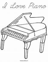 Coloring Piano Play Keyboard Pages Drawing Noodle Twistynoodle Cursive Twisty Outline Grand Pianos Printable Worksheets Keys Note Built California Usa sketch template