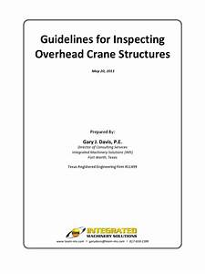 Guide Line For Inspection Of Overhead Crane Structure