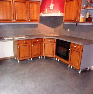 recouvrir un carrelage de cuisine béton ciré cuisine sur ancien carrelage