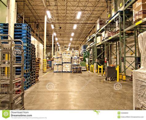 warehouse stock photo image  cargo discount lights