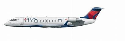 Crj Bombardier Aircraft Delta Jet Canadair Regional