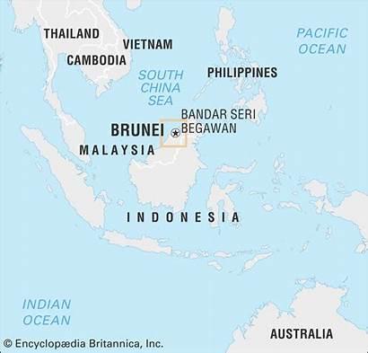 Brunei Britannica Map History Religion Encyclopaedia Inc
