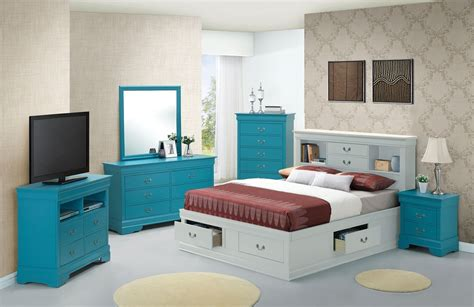 Bookcase Bedroom Set by G3180 Bedroom Set W White Bookcase Storage Bed
