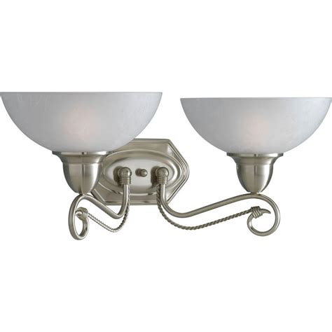 bathroom lighting collections progress lighting pavilion collection 2 light brushed