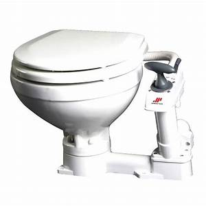 Johnson Pump Compact Manual Toilet  White