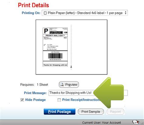 print usps envelope