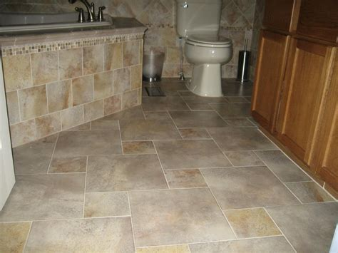 Cool Marble Tiles Flooring For Modern Bathroom Design Idea