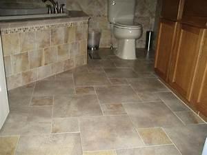 Cool marble tiles flooring for modern bathroom design idea for Floor tile patterns for small bathroom