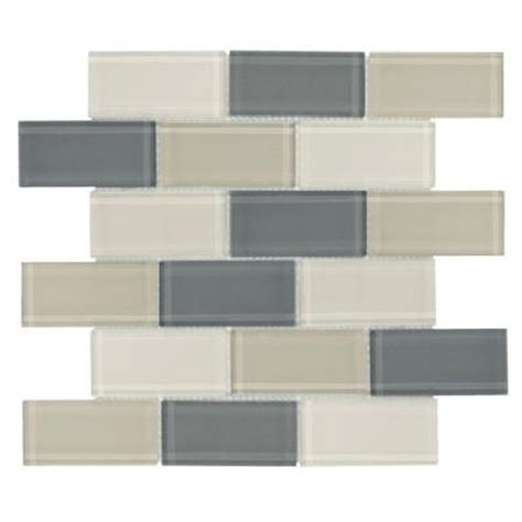 jeffrey court silver screen mosaic tile jeffrey court 12 in x 12 in rocky glass mosaic