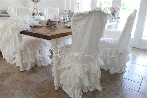 shabby chic dining chair slipcovers dining room seat covers dining room decor ideas and
