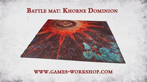 warhammer battle mat new khorne dominion battlemat is 40k next edition