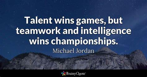 michael jordan talent wins games  teamwork