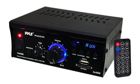 Pyle Home Pcau25a 2-channel 40 Watt Stereo Power Amplifier