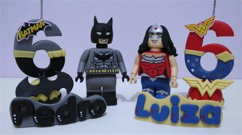 topo de bolo personalizado lego batman mulher maravilha no elo7 di cris 92367a