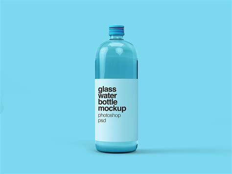 This psd mockup includes special layers and a smart object for your you already have a license of this item. Free Glass Water Bottle Mockup | Mockuptree