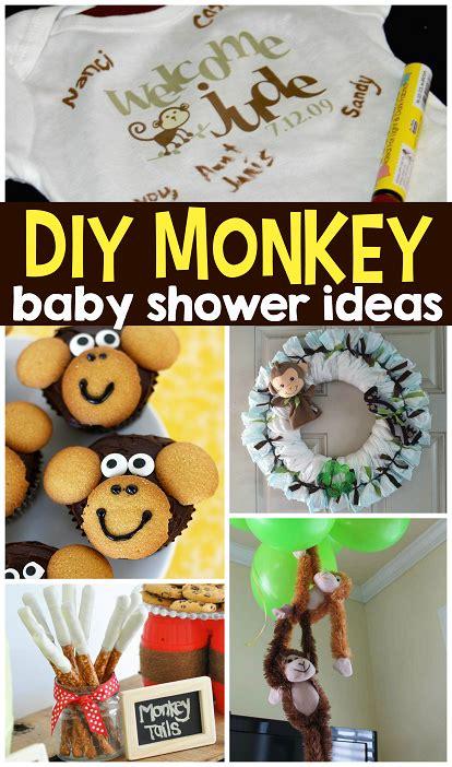 baby shower diy decorations diy monkey baby shower ideas crafty morning