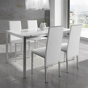 Ensemble table et chaise salle a manger but chaise for Chaise salle a manger blanche