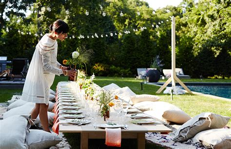 Athena Calderone's Dream Dinner Party Outdoor