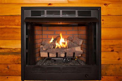 fake log fireplace stock image image  background