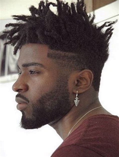 stylish medium dreaklocks spiky hairstyle for black men
