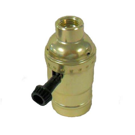 Way Brass Plated Lamp Socket With Large Hole Ips