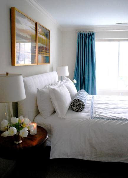 peacock blue curtains transitional bedroom benjamin