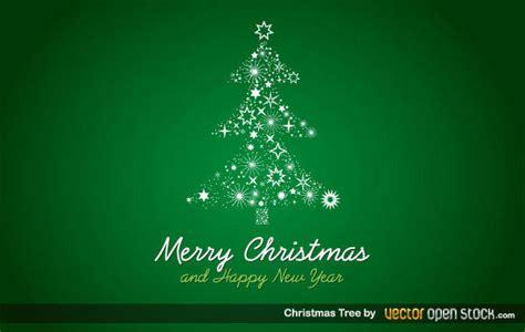 christmas tree  green background vector art