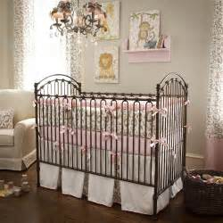 pink and taupe leopard crib bedding baby bedding in leopard print carousel designs