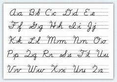 HD wallpapers cursive letters a z chart awi ikikfo