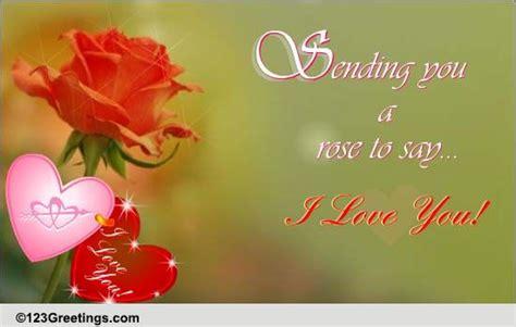 sending   rose    love ecards greeting