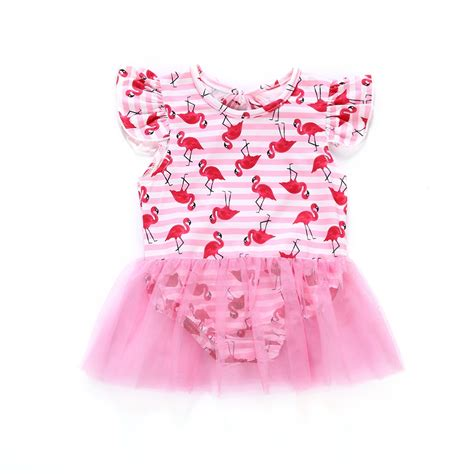pretty newborn baby girl swimsuit cartoon red bird
