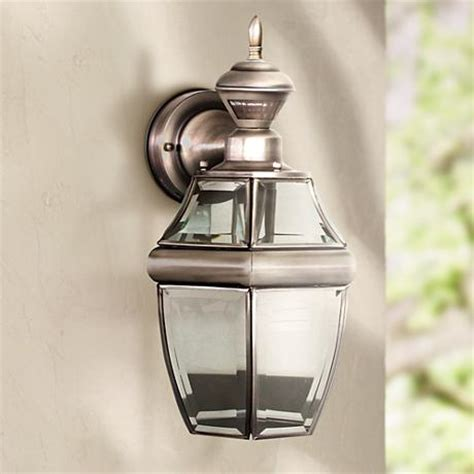 antique silver 14 1 2 quot dusk to motion sensor wall