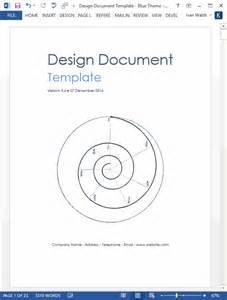 design document design document template