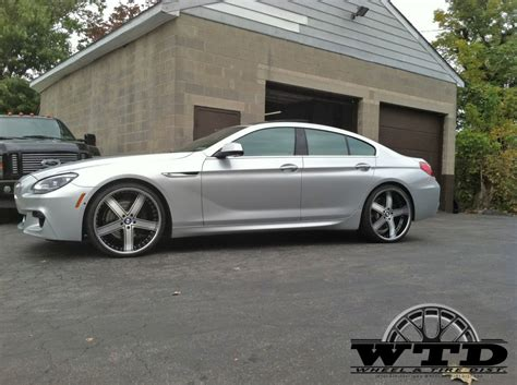 bmw  gran coupe dub  forged  pc  tone center brushed black wchrome lip  front