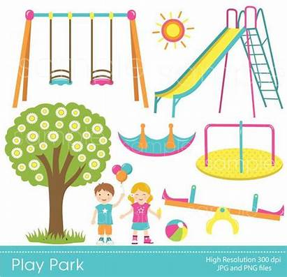 Park Clipart Play Playground Swings Ride Clip