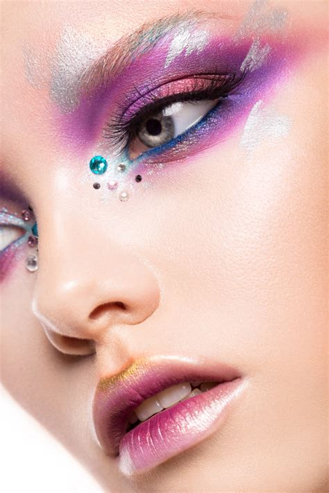 young female model eye makeup hd picture