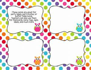 printable classroom task cards rainbow owl theme With blank task card template