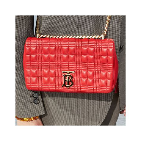 small quilted lambskin lola bag  bright red women burberry canada