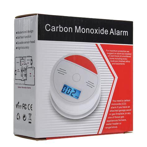jkd  lcd  carbon monoxide poisoning sensor alarm