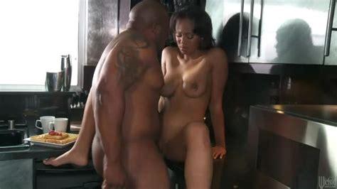 erotic ebony foreplay and sex in kitchen ebony porn