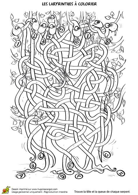 jeu de cuisine facile coloriage labyrinthe des serpents sur hugolescargot com